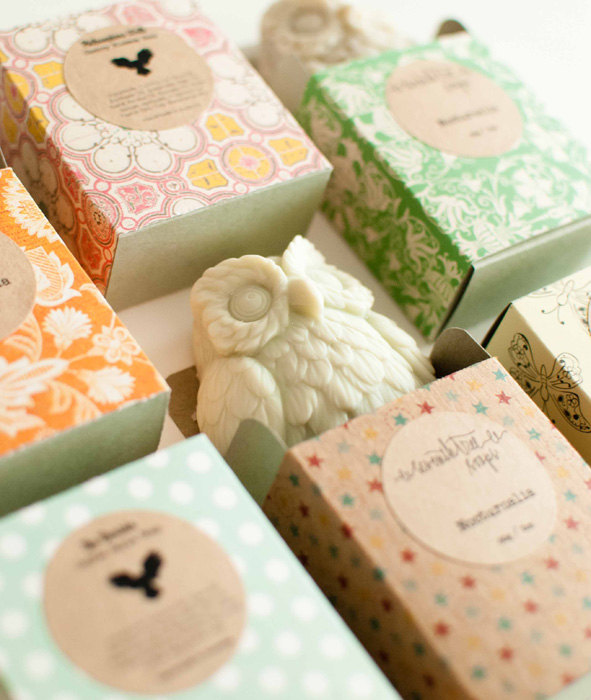 20 Owl Shaped Soap Favors
