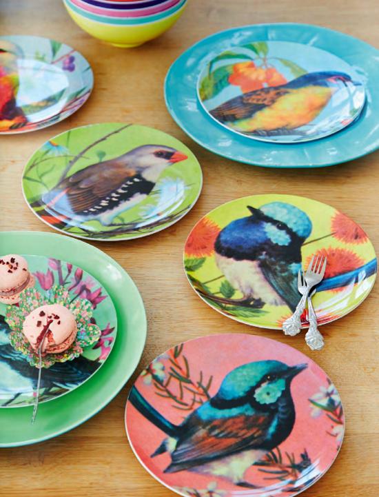 Bird plate Rice 1