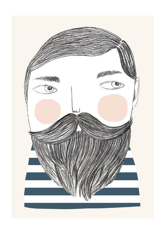 Bearded print