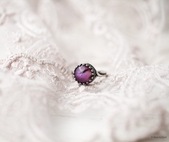 plum petal ring